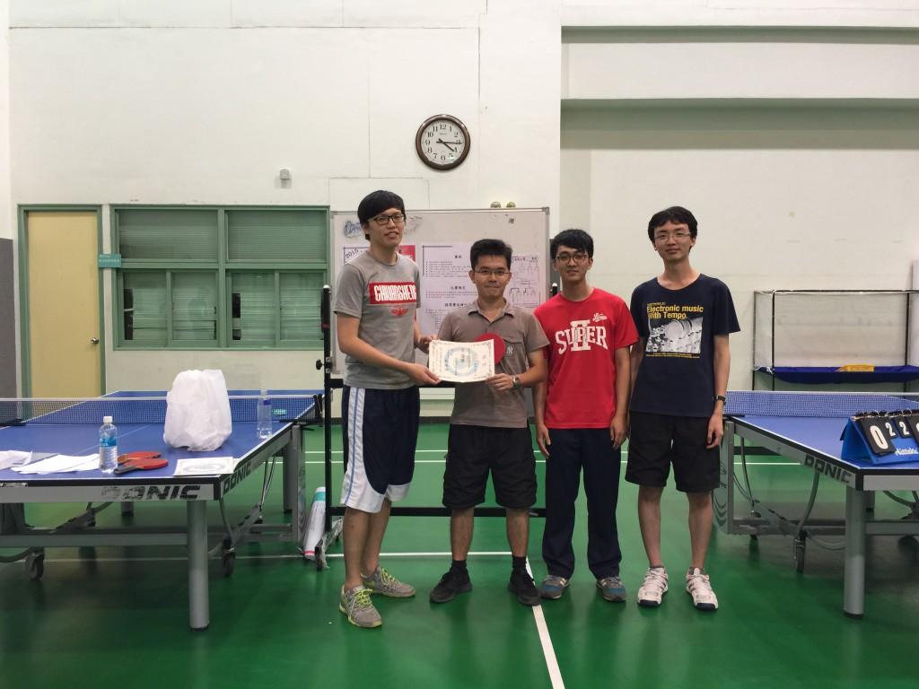 [獲獎] 臺大電子所桌球大賽榮獲亞軍